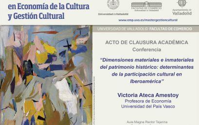 Máster Universitario en Economía de la Cultura y Gestión Cultural