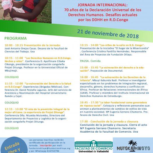 JORNADA INTERNACIONAL: 70 años de la Declaración Universal de los Derechos Humanos. Desafíos actuales por los DDHH en R.D.Congo