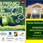 XII Premio Creación de Empresas: límite entrega proyectos 25 julio
