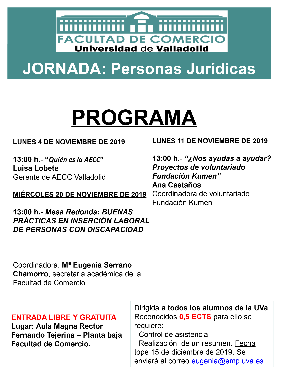 JORNADA: Personas Jurídicas