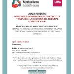 AULA ABIERTA:  DERECHOS FUNDAMENTALES Y CONTRATO DE TRABAJO EN LA DOCTRINA DEL TRIBUNAL  CONSTITUCIONAL
