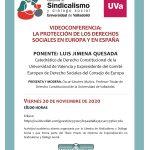 Videoconferencia Luis Jimena Quesada 20 noviembre 2020