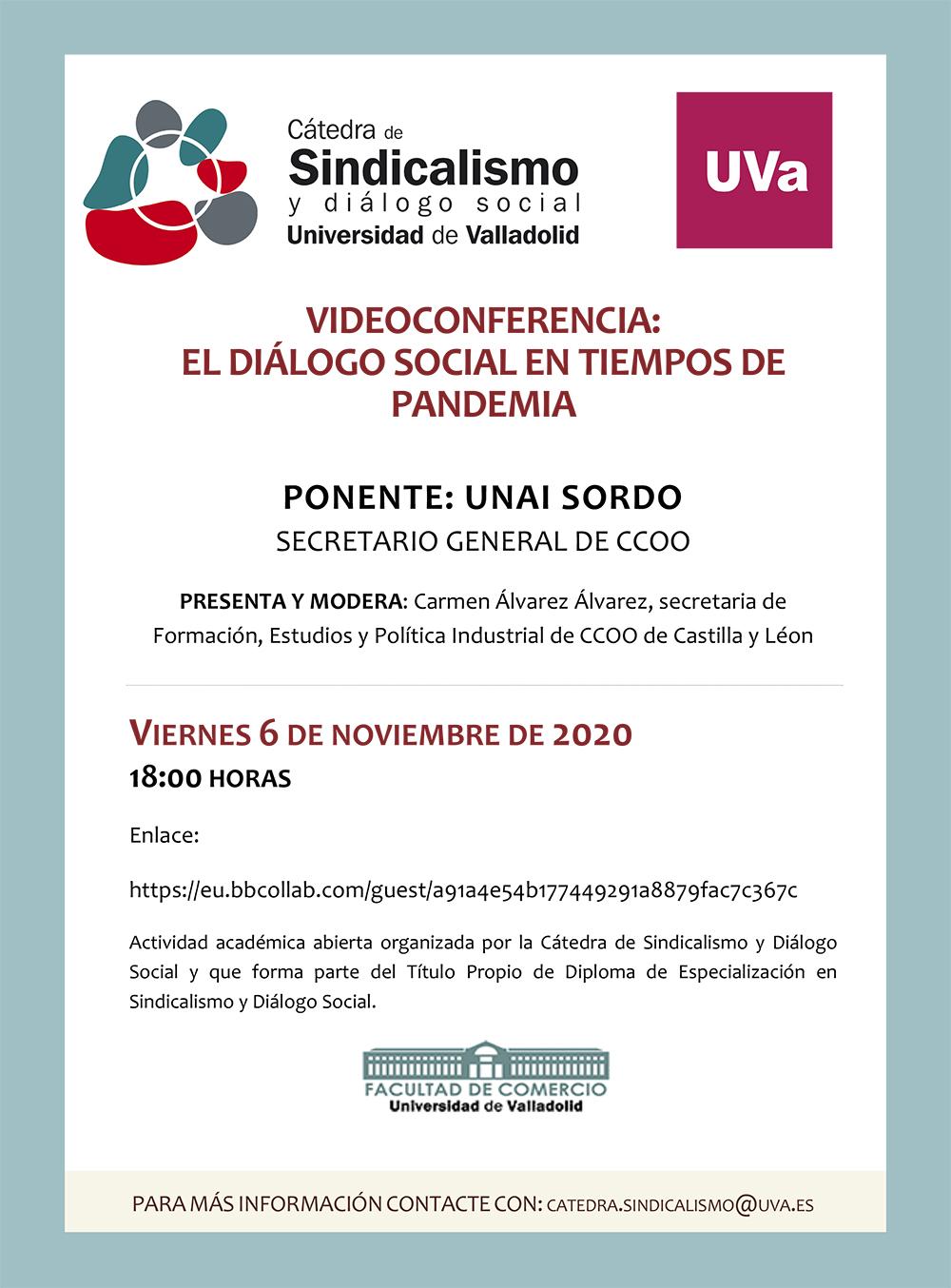 Videoconferencia UNAI SORDO CCOO